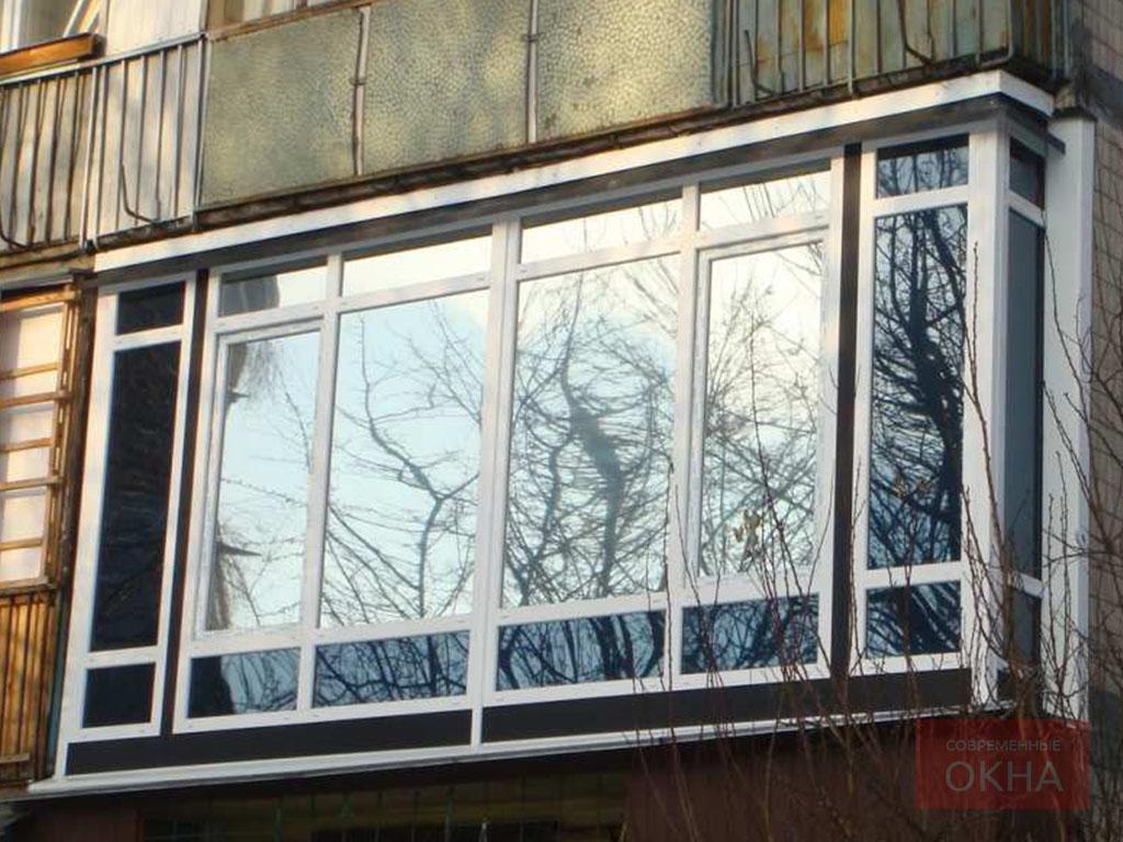 Остекление балконов и лоджий тонированными стеклопакетами фо.